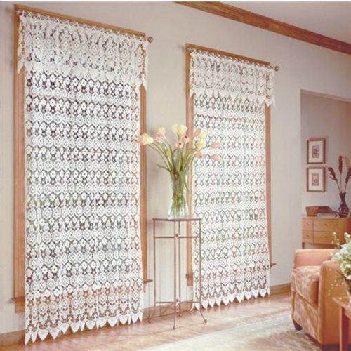 "Medallion Curtain Panel 48""x 63""-Ecru"