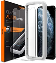 "Spigen, 2 Pack, iPhone 11 Pro Tempered Glass Screen Protector/iPhone XS/X Tempered Glass (5.8""), AlignMaster, Auto-Align Technology, Case Friendly, Face ID Compatible, iPhone 11 Pro Screen Guard"