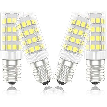DiCUNO E14 Bombilla LED 4W (40W equivalente de halógeno), 400LM, Luz diurna (6000K), Base de cerámica E14, Tornillo Edison pequeño no regulable para iluminación doméstica, Paquete de 2: Amazon.es: Iluminación