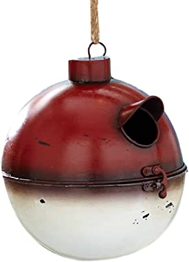 Bird House Fishing Bobber Theme Outdoor Metal Birdhouse