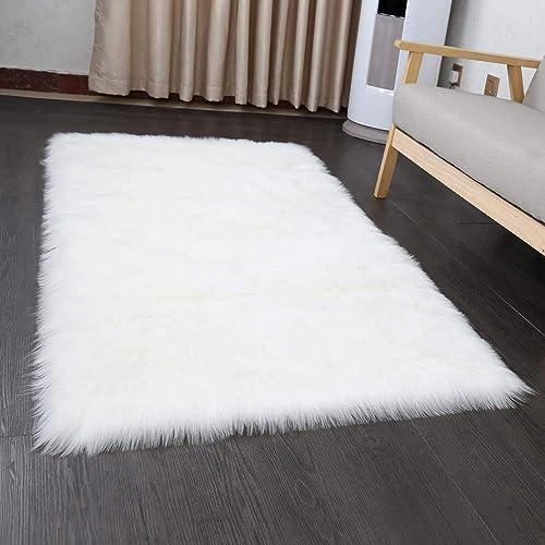 Genial Faux Fur Sheepskin Style Rug 50 X 150 Cm Faux Fleece Fluffy Area Rugs Anti