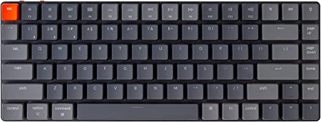 Amazon.com: Keychron K3 Ultra-Slim 75% Layout Wireless Bluetooth/Wired USB Mechanical Keyboard, Hot Swappable Low-Profile Keychron Optical Brown Switch White LED Backlit 84 Keys Keyboard for Mac Windows-Version 2 : Video Games