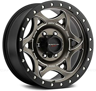 Walker Evans Racing Custom Wheel - 501BZM Legend II Satin Bronze with CNC Milled Accents, Black Lip and Clear Coat - 20