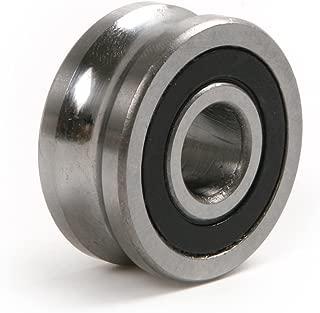 Atoplee 6pcs U Groove Sealed Ball Track Guide Bearing Double Row Angular Contact Ball Bearings LFR50/8-6