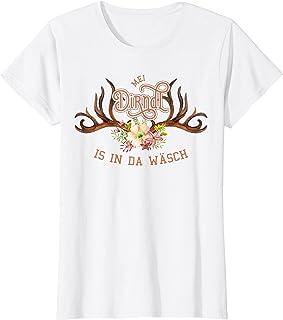 Mei Dirndl is in da Wäsch T-Shirts Damen Mei Dirndl is in da Wäsch T-Shirt Lustiger Dirndl Ersatz