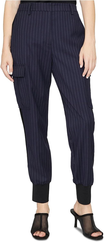 Sanctuary Womens Navy Pinstripe Skinny Wear to Work Pants Size M