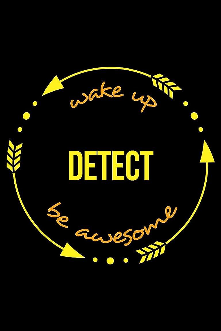 りんごぼろ長老Wake Up Detect Be Awesome | Gift Notebook for Metal Detectors, Blank Lined Journal: Medium Spacing Between Lines