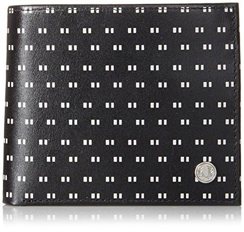 Schwarzes gespitzte drucken Brieftasche und Münzen Briftasche von Fred Perry