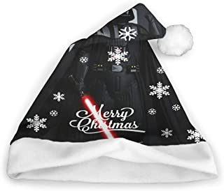 HAPPYHSQHSQCOOL Darth Vader Unisex Adults Kids Christmas Hats Santa Hat Comfort Classic Xmas Cap for New Year Festive Holiday Party Supplies