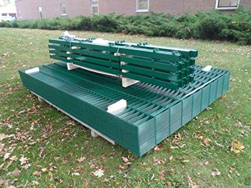 BBT@ / 50m Zaunanlage Gartenzaun Zaun 1830mm Doppelstabmatten Verzinkt + Pulverbeschichtet