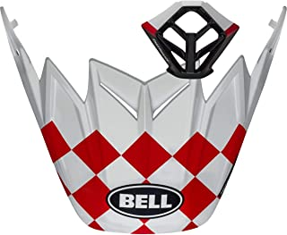 BELL Matte White/Red/Black Checkers Visor/Mouthpiece for Moto-9 Helmets