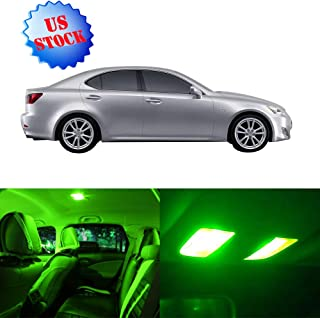 SCITOO LED Interior Lights 12pcs Green Package Kit Accessories Replacement for 2006-2013 Lexus IS250 IS350 ISF
