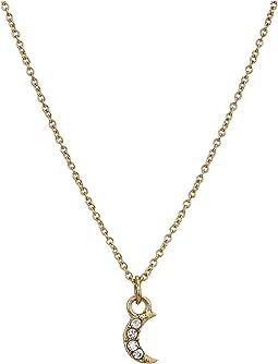 "Mini Moon Pendant Necklace 15"""