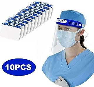 STARFO Reusable Safety Face Shield, 10Pcs Transparent Protective Sheild,Anti-Saliva..