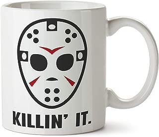 Killing It Funny Coffee Tea Mug Hockey Mask Serial Killer
