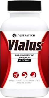 Vialus -Male Testosterone and Performance Booster to Improve Size, Stamina, Energy. Fast Acting Enhancement Formula with H...
