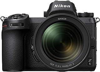 Nikon Z 6 Spiegellose Vollformat Kamera mit Nikon 24 70 mm 1:4 S (24,5 MP, 12 Bilder pro Sek., 5 Achsen Bildstabilisator, OLED Sucher mit 3,69 Mill. Bildpunkten, AF mit 273 Messfeldern, 4K UHD Video)