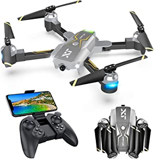 Drones with Camera for Adults – 120° Wide-Angle 720P HD Camera, RTF One Key Take Off/Landing, Beginner Friendly, Optical Flow Positioning, Trajectory Flight, APP Control, Compatible w/VR Headset