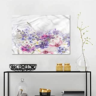 one1love Lavender Landscape Oil Painting Pink Purple Flowers On Canvas Abstract Artwork W47 xL31