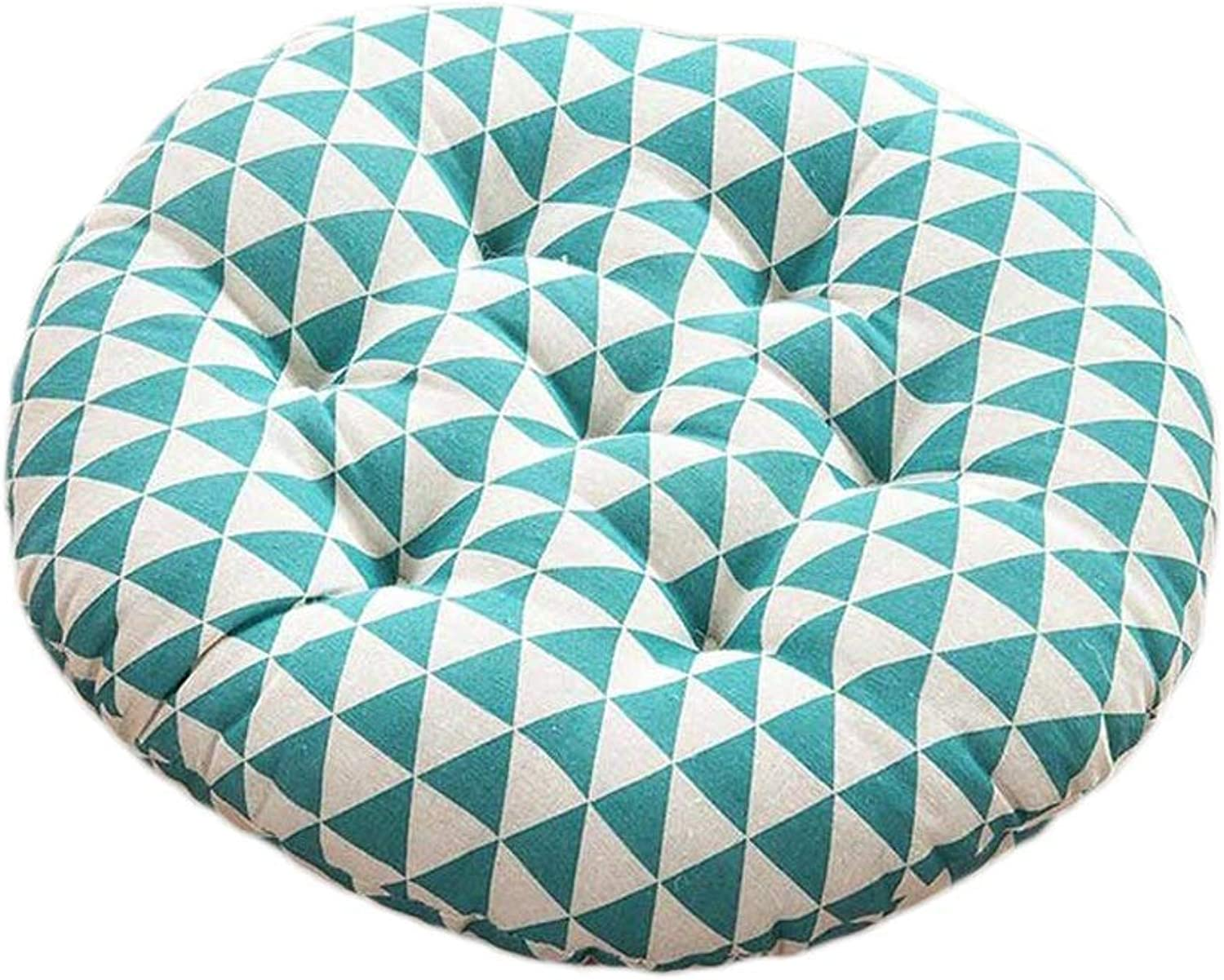 Seat Cushion Seat Cushion Circular Cushion bluee Triangle Pattern Office Computer Chair Student Thicken Sofa Lumbar Cushion Four Seasons Available Chair Pad ( color   Common Models , Size   40408cm )