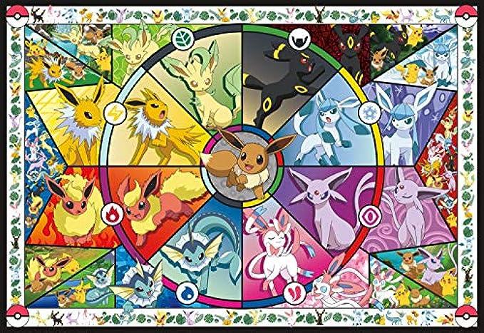 Buffalo Games Pokemon - Pokemon - Eevee's Stained Glass - 2000 Piece Jigsaw Puzzle