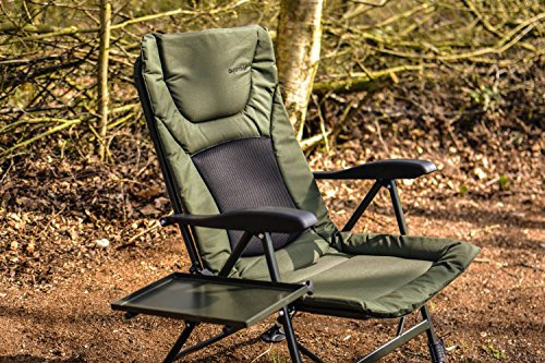 Carptrix Fishing Chair - Padded Recliner Chair *FREE SIDE TRAY*