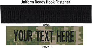 Northern Safari Army Navy Custom 3 Inch Uniform Name Tapes w/Hook Fastener. Same Day Ship from Wisconsin.