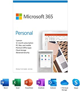 Microsoft 365 Personal - Box Pack - 1 Person - 12 Month