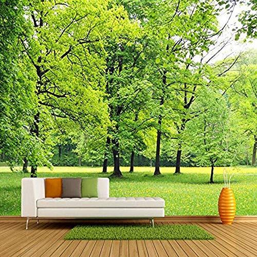 Landschap Wallpaper HD muurschildering groen hout papier behang ontwerp muur stuk keuken behang slaapkamer muur Art Decor op maat 3D behang plakken woonkamer de muur voor slaapkamer muurschildering 300 cm.