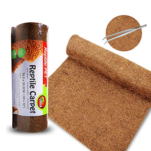 "Mclanzoo 20gallon Reptile Carpet Mat, Coconut Fiber Liner,Snake Bedding,Lizard Cage Mat/Substrate for Snakes, Chameleons, Geckos ands Kitchen Use (30""x12"")"