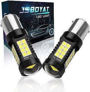 JSBOYAT 1157 2057 2357 7528 BAY15D LED Bulbs for Backup Reverse Lights Brake Lights,  3600LM Super Bright Xenon White 6000K (2PCS)