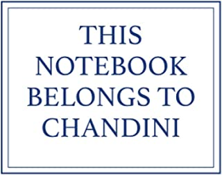 This Notebook Belongs to Chandini