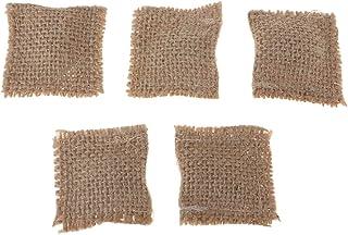 Handmade 1//12 Dollhouse Miniature Sofa Chair Decor Hessian Cloth Pillow 5pcs
