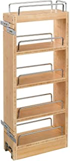 Rev-A-Shelf 448-WC-8C 8 Inch Pull Out Wood Base Kitchen Cabinet Organizer