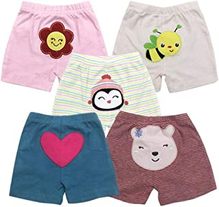 Alsmiley Unisex Baby 5-Pack Long Pants Newborn to Toddler Cotton Shorts Gift Set