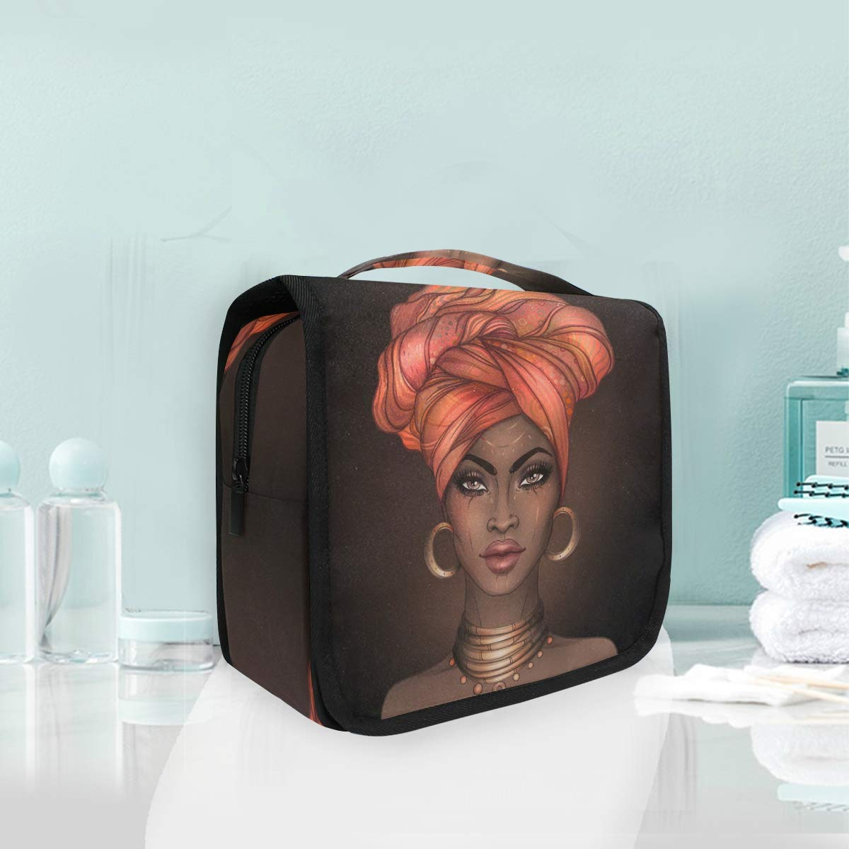 Hanging Toiletry Bag African American Ma Portable Cosmetic Woman Award-winning Excellence store