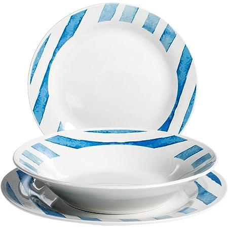 porcelaine Royal Leerdam 735042 Royal Norfolk Ecuador Service de table 18 pi/èces