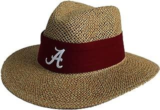 Alabama Crimson Tide Nick Saban Straw Hat With Crimson Band With A Script