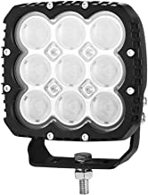 LightFox 5inch 90w Heavy Duty Square Cree LED Work Light Flood Beam 12/24v 3 Years Warranty