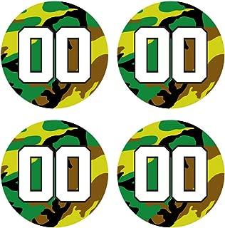 Custom Baseball Bat Decal Set - Army Camo Design Bat Knob Sticker