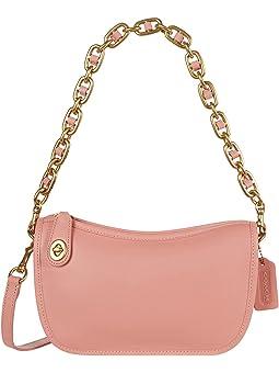 코치 크로스바디백 COACH Originals Glovetanned Leather Swinger with Chain,Candy Pink