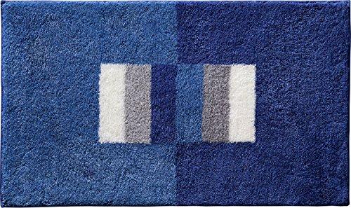 Erwin Müller Badematte, Badteppich rutschhemmend blau Größe 70x120 cm - für Fußbodenheizung geeignet, flauschig weich (weitere Farben, Größen)