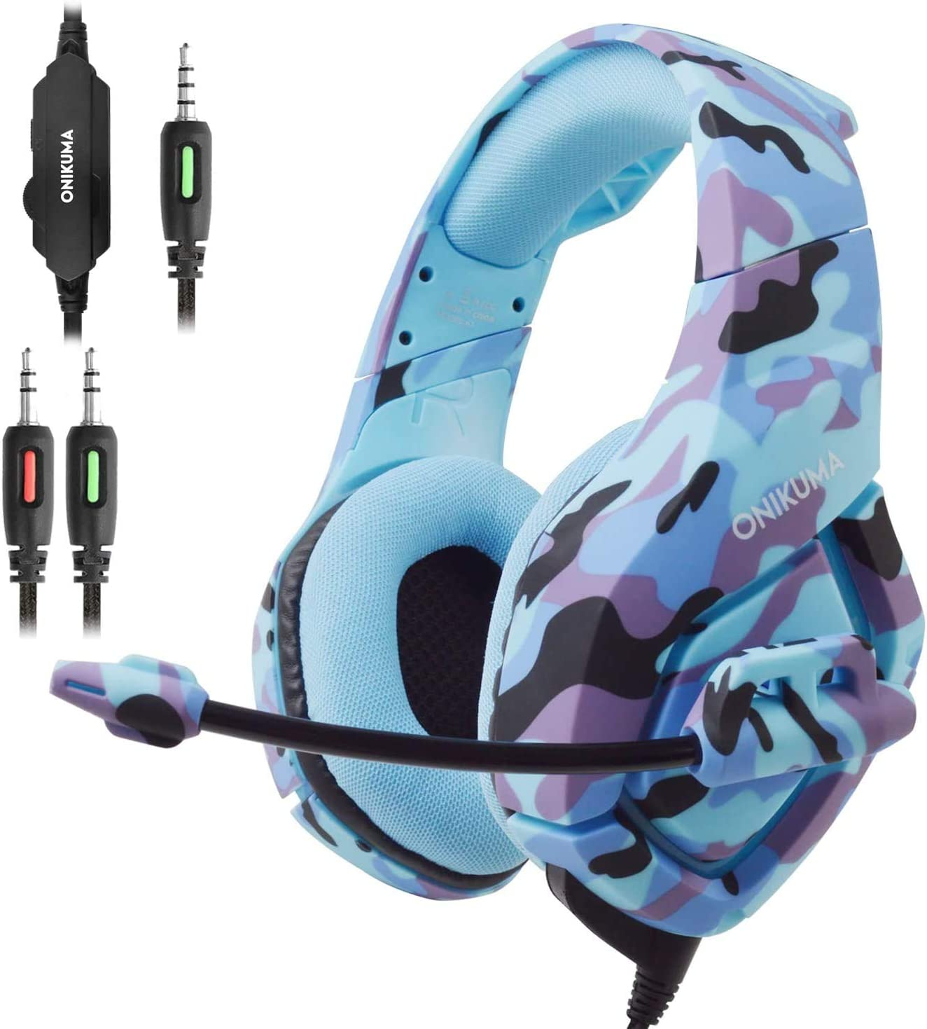 PS4 Gaming Headset, ANRIS Gaming Headphone, Professional 3.5mm Over Ear Gamer Headphones (Blue)