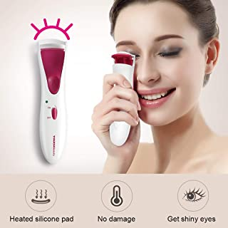 Dual Silicone Pads Electric Heated Eyelash Curler By TOUCHBeauty Eye lashes Curler With Smart Silicone Heating Pads - Fast Heating Up