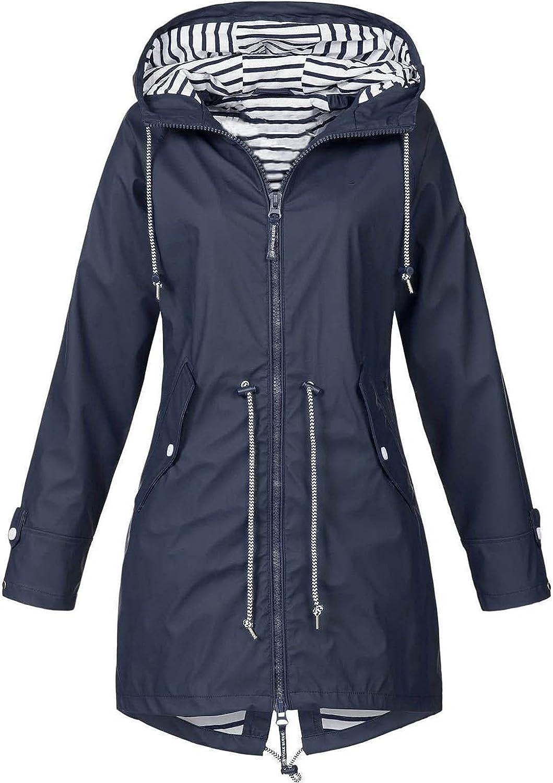 FengLS Women's Winter Jacket Hooded Outdoor Sportswear Jacket Long Sleeve Solid Color Windbreaker Warm Coat Waterproof