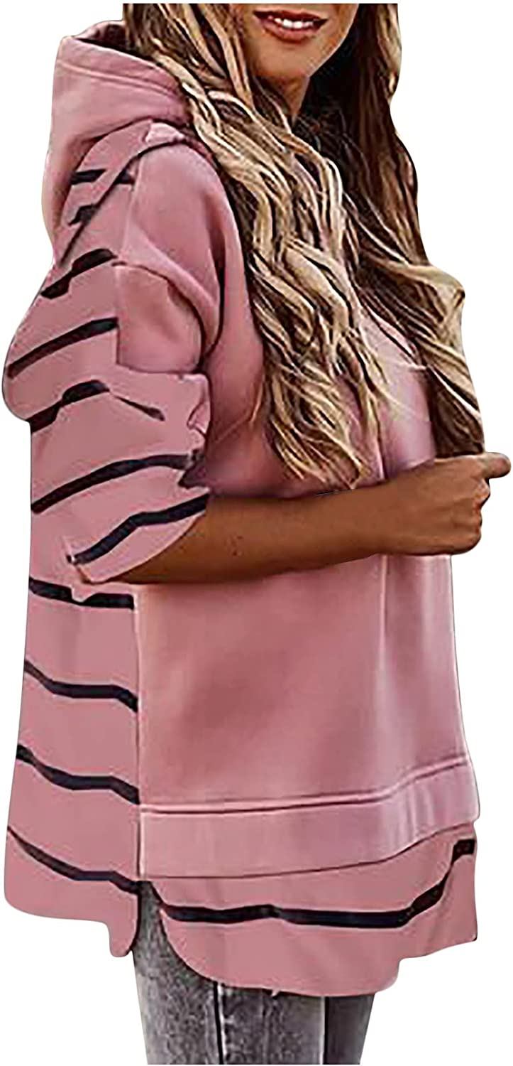 Striped Long Sleeve Cash special price Sweater Women sale Color Trendy Casual Plain Patc