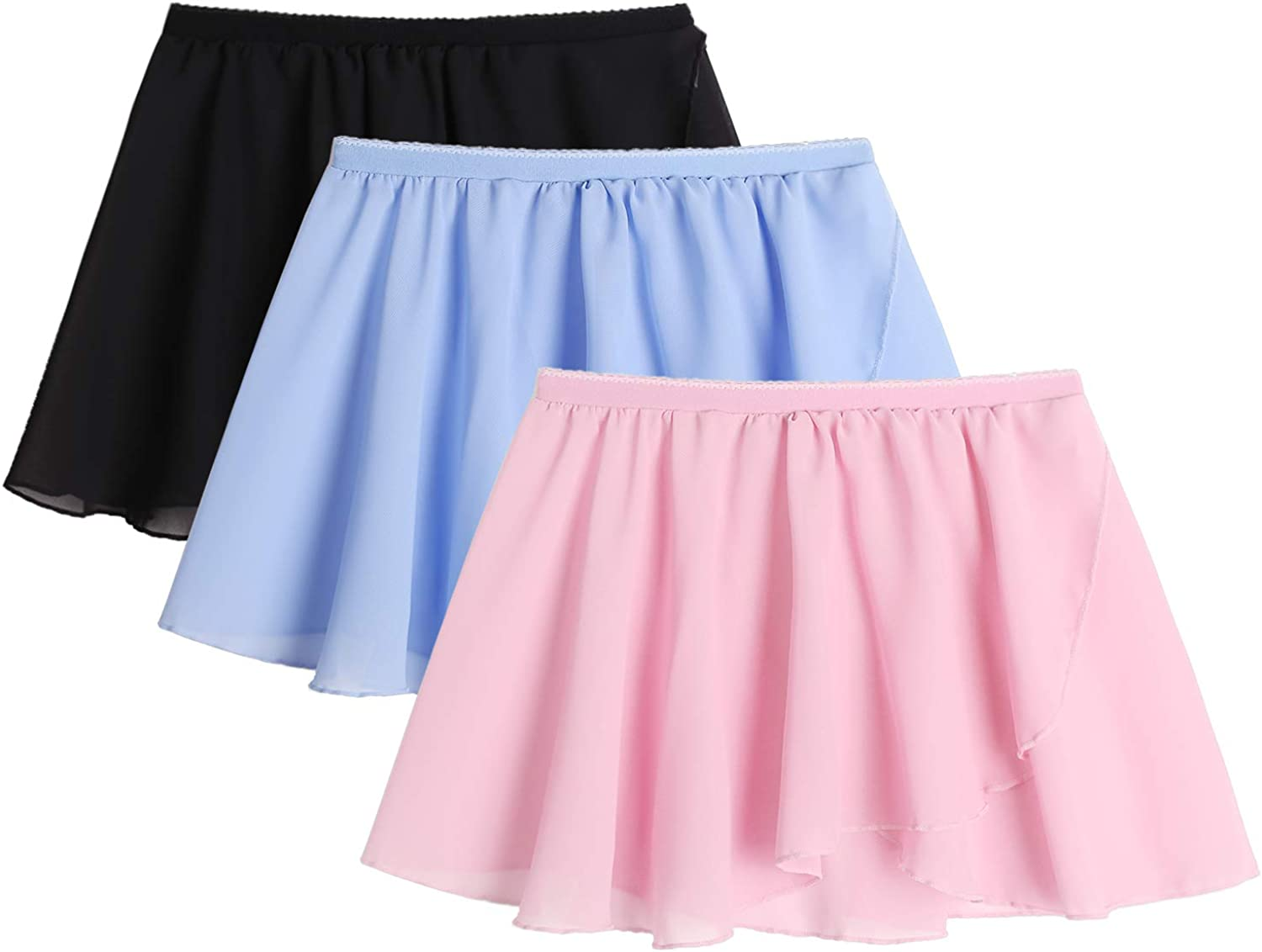 Arshiner Girls Ballet Skirts Dance Wrap Chiffon Large special price !! 3 Max 71% OFF Pack