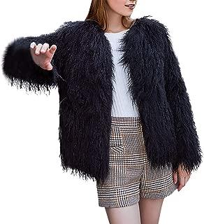 BIKETAFUWY Womens Fuzzy Fleece Lapel Coat Faux Fur Jacket Warm Winter Oversized Cardigan Outwear