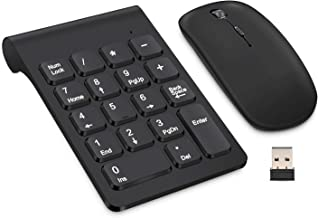 Wireless Numeric Keypad, TRELC Mini 2.4G 18 Keys Number Pad, Portable Silent Financial..
