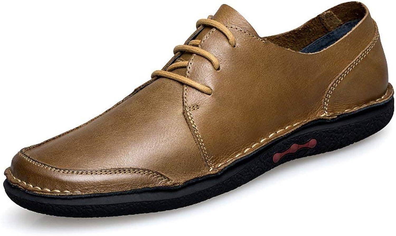 ZHRUI Boy's Men's Oxfords-Style Rubber Sole Khaki Fashion Sneaker UK 9 (color   -, Size   -)